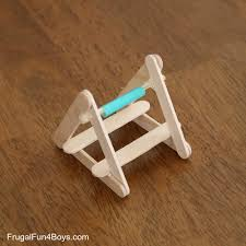 Simple Catapult Design Build A Powerful Popsicle Stick Catapult Frugal Fun For