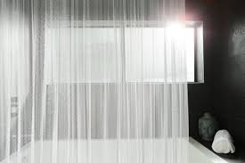 coiled wire shower curtain