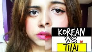 korean vs thailand makeup tutorial