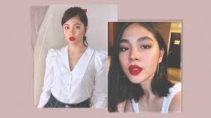 janella salvador red lipstick makeup looks