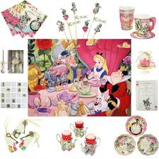 Alice In Wonderland Decoration Truly Alice In Wonderland Mad Hatter Vintage Tea Party Cups Plates