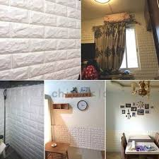 pe foam 3d diy wall stickers room home decor brick stone wall poster