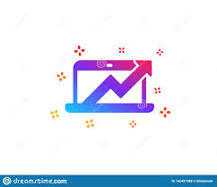 Data Analysis And Statistics Icon Computer Vector Stock
