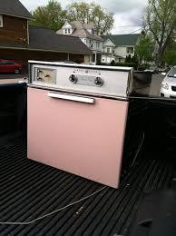 vintage pink wall oven 1950 s general electric ge kitchen range