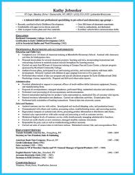 Resumes Teachernt Resume Sample Skills Infant Daycare Examples