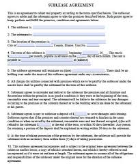Sublease Form Free Illinois Sublease Agreement Pdf Template