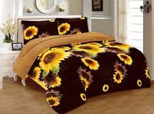 king size plush blanket.  King 3 Piece Sunflower Brown Yellow Flannel Plush Sherpa Blanket King Size 7 Lbs Intended I