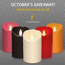 october s giveaway would you like one of the luminara candles we feel having