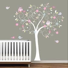 Owl Bedroom Decorating Gorgeous Tree Owls Wall Decal Cute Baby Nursery Decor Colorful