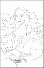 Mona Lisa Coloring Page Impressive Mona Lisa Coloring Page With Mona