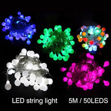 outdoor lighting balls. 5M 50LED Decoration Holiday Lighting Led String Lights Outdoor Multicolor Garden Ball Bulbs For Christmas New Year Party Wedding-in Strings From Balls N