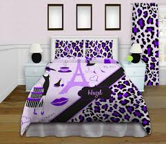 Paris Bedroom Decor Teenagers Paris Themed Bedding Sets Eiffel Tower Home Decor Purple Cheetah