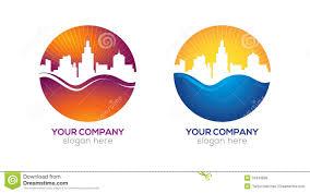 Example Of Company Logo Designs Modern City Logo Design Stock Illustration Illustration Of