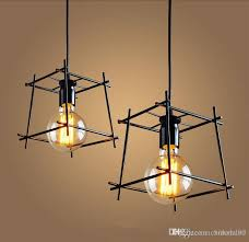 american loft vintage pendant light personality wrought iron lights edison nordic lamp industrial cage lamp lighting fixtures hanging lamps globe