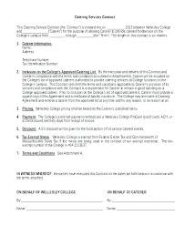 Catering Agreement Contract For Catering Services Template Meltfm Co