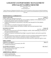 Automated Logistic Specialist Resume Logistics Resume