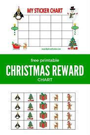 Printable Reward Chart For Christmas Printable Reward