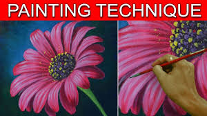 how to paint a daisy flower in real time acrylic painting tutorial by jm lisondra
