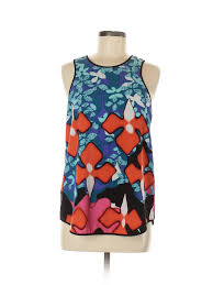 Details About Peter Pilotto For Target Women Blue Sleeveless Top M