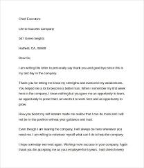 Thanksgiving Letter Company After Resignation Well Chief Executive