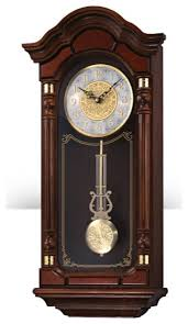 seiko clocks dark brown solid oak case