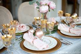 elegant table settings. Elegant Christmas Table Setting With Pink And Gold Settings T