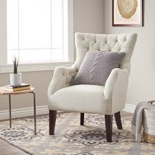 havenside home hannah off white upholstered solid hardwood wingback chair
