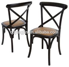 Rattan Solid Wood Cross Back Dining Chair - Buy Cane