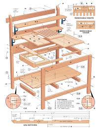 Potting Bench Plans Crafts A Victorian Country Potting Bench