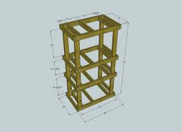 diy home made custom wood server rack
