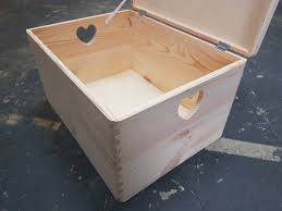 Large Wooden Boxes To Decorate Large Plain Wood Wooden Box whit Heart and Lid Wooden Chest 95