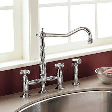 bridge kitchen faucets faucet brushed nickel