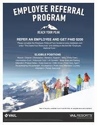 Employee Referral Program Vail Mountain 12 23 16