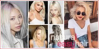 Platina Blonde Kapsels Voor Lente 2018 Trend Kapsels Haarstijlen