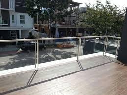 balcony glass railing installation and maintenance