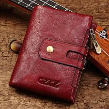 hot genuine leather bifold wallet female small wallet money bag coin purse card holder newchic