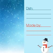 Potluck Sign Up Holiday Potluck Free Printable Meal Cards Signup Com