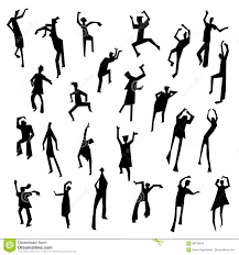 Design In Motion Dance People Figures In Motion Dancing People Set Cute Black