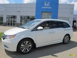 White Diamond Pearl 2014 Honda Odyssey Touring Elite Exterior ...