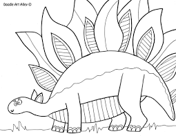 Dinosaur Coloring pages - Doodle Art Alley