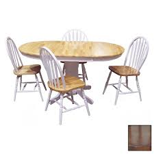 tms furniture farmhouse oak 1 piece dining set with oval dining table
