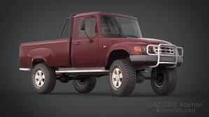 3d model ataman pickup trucks gaz