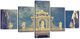 Copper pegasus architectural fragment on linen wall mount, american, circa 1930s. Amazon Com 5 Pieces Wall Art Painting Beautiful Golden Architecture Cathedral Almudena Paintings Giclee Canvas Artwork Poster Madrid Spain Pictures Prints Landscape Modern Home Church Decor Framed 50 Wx24 H Posters Prints
