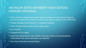 Stem Opportunities For High School Students Ppt Download