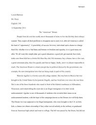 American Dream Essay English2b