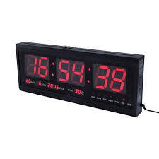 digital office wall clocks digital. LED Wall Clock Digital Calendar Watch With Temperature Week And Date Battery Back Up Big Numbers Office Clocks U