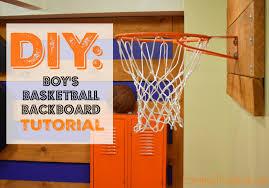 diy tutorial boy s basketball backboard