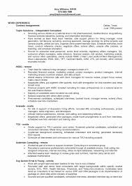 Maintenance Manager Resume Fresh 51 Fresh Sample Project Manager