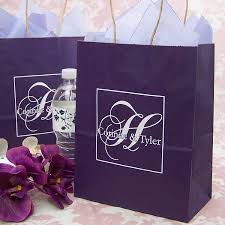 personalized wedding gift bags. Interesting Gift White Kraft Gift Bags Custom Printed With Customer Artwork And  Raspberry Ink On Personalized Wedding Gift Bags S