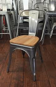 industrial dining furniture. Metal Industrial Dining Chairs With Wood Seat Furniture